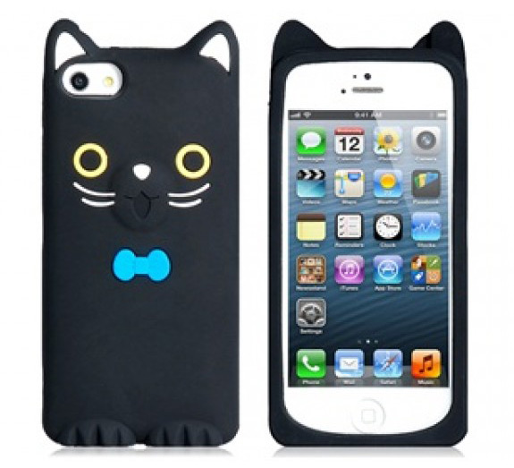 Toonish black cat iPhone 5 case